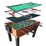 CARACHOME Juegos Divertidos 4 en 1, Mesa multijuegos, futbolín, Hockey aéreo, Billar, Tenis de Mesa, para la Oficina, Juegos Familiares para Adultos,A