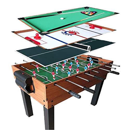 CARACHOME Giochi Divertenti 4 in1, Tavolo multigioco, biliardino, Air Hockey, Biliardo, Ping Pong, per Ufficio, Giochi per Famiglie per Adulti,A