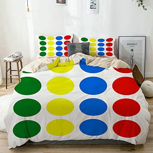 JOSENI Bettwäsche-Set,Mikrofaser,Beige,Twister Design,1 Bettbezug 220x240 + 2 Kopfkissenbezug
