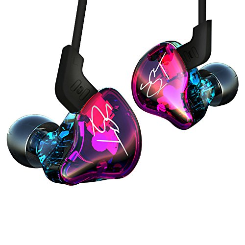 Docooler KZ zst Pro 3,5?mm engancharse en oído Auriculares HiFi Música Auriculares 1DD + 1BA dinámica Armature Drivers Sport Auricular con Cable Auriculares de oído Auricular de Repuesto
