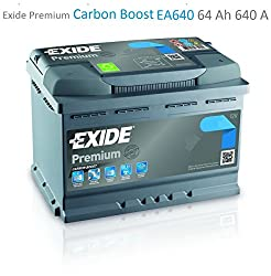 Exide EA640 Premium Carbon Boost Car Battery 12V 640A 64Ah