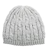 ISOTONER Women's Cable Knit Cold Weather Beanie Hat with Warm Fleece Lining, 1SZ
