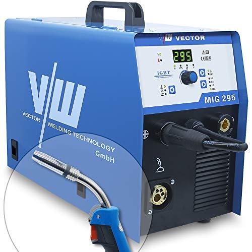 Vector Welding MIG295 - Equipo de soldadura profesional con 295 amperios - Electrodos IGBT - Equipo de soldadura de gas protector combinado Mig Mag - Alambre de soldadura - MMA ARC E-Hand MIG295