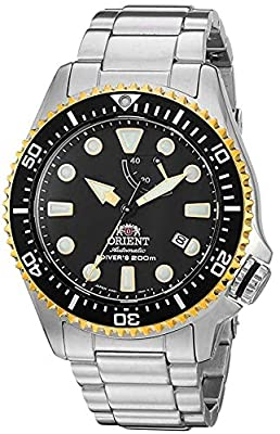 Orient Men's Neptune Japanese Automatic / Hand Winding Stainless Steel Bracelet Diver Watch, Silver