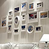HJKY Nouveau Continental - Marco de pared de madera para colgar fotos en la pared y la pared blanca pura pasión del Mediterráneo