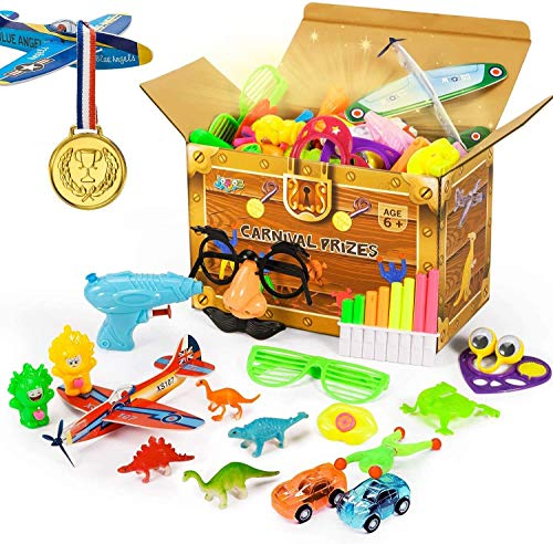 Joyjoz Party Favors Carnival Prizes for Kids, 120PCS Prizes Box Toy Assortment for Boys Girls, Prizes Gift for Party, Birthday, School, 22 Kinds Toys Set