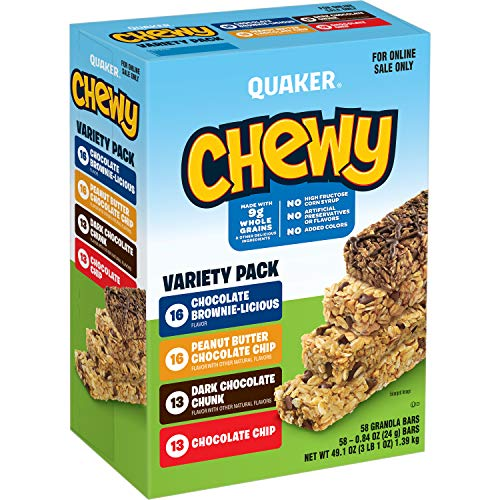 Quaker Chewy Granola Bars 58-Count Now $7.30
