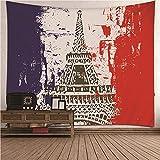 KnBoB Tapiz para Pared Torre Eiffel 350x256 CM Tejido Poliéster...