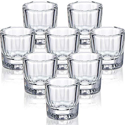 8 Stücke Nagel Pulver Schale Klares Acryl Flüssigkeit Pulver Dappen Schale Kristall Glas Schüssel für Mischen Flüssigkeit Pulver Nagel Kunst Werkzeuge