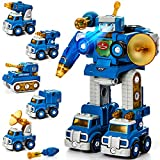 Take Apart Robot Toy Vehicle Set 5 in 1 Construction Toys for 5 Year Old Boys STEM Toys Vehicles...