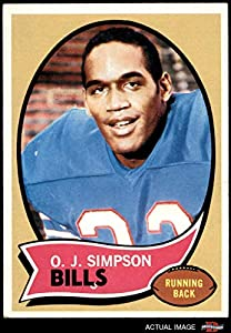 1970 Topps # 90 O.J. Simpson Buffalo Bills (Football Card) Dean's Cards 4 - VG/EX Bills
