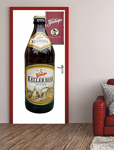Türposter ZIRNDORFER 62x200cm Türfolie Türtapete Flasche Bier Lecker 735tp