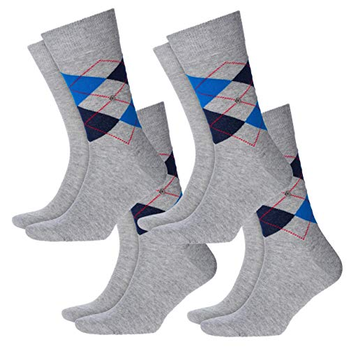 Burlington Herren Socken Everyday Mix 8er Pack , Größe:40-46;Farbe:Light Grey (3400)