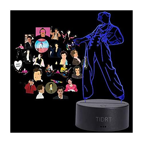 TIDRT Anime 3D Led Night Light Harry Styles Fan Decoración Cámara Da Letto para Niños Fantasia Lanterna Cambia Color Lampada De Mesa Sensor Tattile USB Trabajo Navidad Party Light