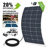 ECO-WORTHY 12V 120W Panel Solar Flexible Para Cargar la Batería de RV, Barco y Más