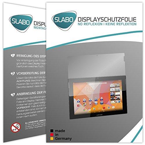 Slabo 2 x Bildschirmschutzfolie für MEDION LIFETAB S10333 / S10334 / S10345 / S10346 / S10366 Bildschirmschutz Schutzfolie Folie No Reflexion   Keine Reflektion MATT