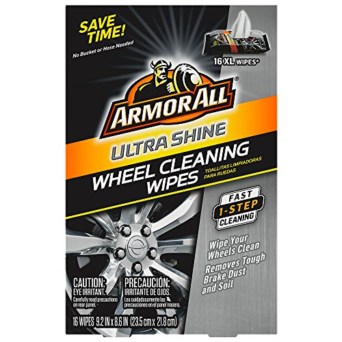 Armor All Ultra Shine Wheel Cleaning Wipes (16 Count), 1 Pack