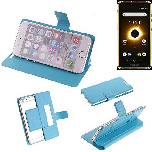 K-S-Trade Flipcover Für Ruggear RG650 Schutz Hülle Schutzhülle Flip Cover Handy Hülle Smartphone Handyhülle Blau