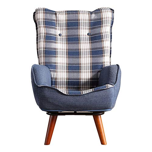 Schlafzimmer Faule Sofa Kleinkinderstühle Kindercouch Kindersofa Gepolsterter Sessel Gepolsterter Stuhl Hohe Zurück Home Kleine Wohnung Wohnzimmer (Color : Blue, Size : 54 * 63 * 93cm)