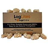 LogLites by LogsOnline - 200 <span class='highlight'>Natural</span> <span class='highlight'>Eco</span> <span class='highlight'>Firelighters</span> - Long Burn & Easy to Light - <span class='highlight'><span class='highlight'>Wood</span></span> <span class='highlight'>Wool</span> Fire Starters for Pizza Oven, BBQ, Fire Pits, Outdoor Stove & Log Burners…