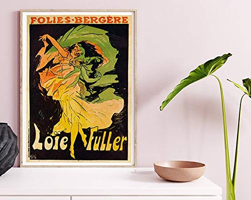 Folies Bergere, Loie Fuller, Vintage Poster, Woman And Dancer, Black And Yellow, Home Decor, Old World, Art Print #2074 | Poster No Frame Board For Office Decor, Best Gift For Family And Your Friends