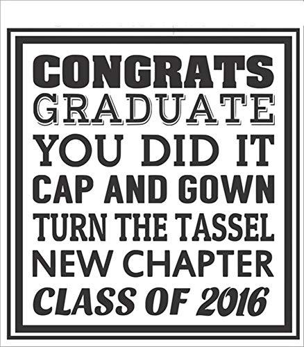 pegatinas de pared 3d pegatinas de pared 3d infantil Congrats graduados personalizados del año que lo hiciste gorra y vestido para la sala de clase