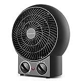 Aigostar Airwin Black 33IEL - TermoVentilatore con Termostat