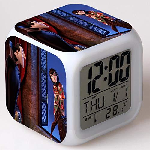 Wizard Hostel Alarm Clocks Kids LED Clock Cartoon Night Light Flash 7 Color Changing Digital Clock Electronic Desk Clock,Style 23, Birthday