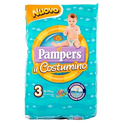 Pampers il Costumino, 12 Pannolini, Taglia 3 (6 - 11 kg)