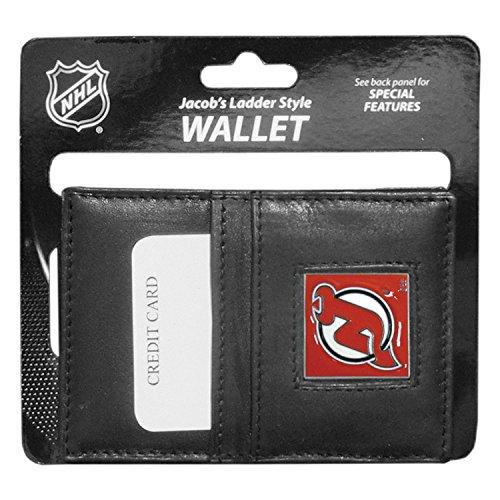NHL Siskiyou Sports Fan Shop New Jersey Devils Leder Jacob's Ladder Wallet One Size schwarz
