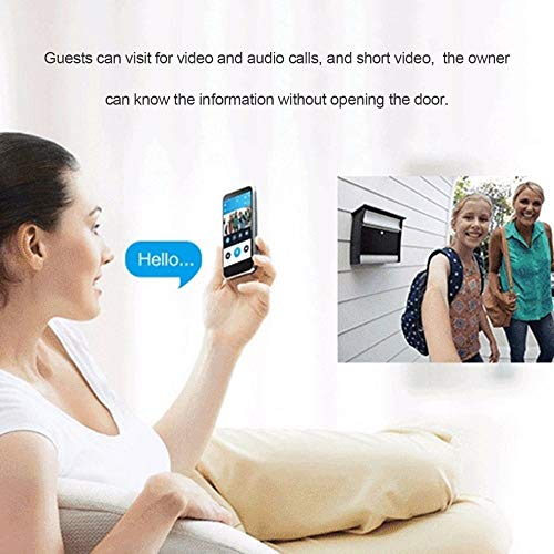 Wireless WiFi Doorbell Camera with Video and Audio Calls-Remote Intercom Detection – Perfect for Monitor Your Home from Your Phone–High Definition and Night Vision View–Best Lifetime Guaranty.