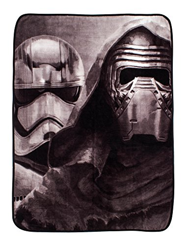 Character World, 120 x 150 cm, Star Wars Episode 7 Awaken-Fleece-Decke, Mehrfarbig
