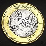SHFGHJNM Numismatique Pièces commémoratives Brésil 2016 Jeux Olympiques de Rio Projet de Concours Rugby 1 Rial Bimetal Memorial Coin Rangements pour pièces de Monnaie