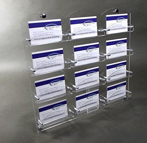 Visitenkarten Wandhalter,Visitenkarten Halter gewölbte Form aus Acrylglas,12-Fach