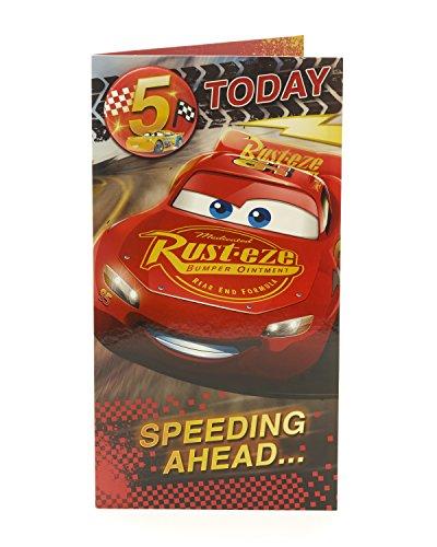 Geburtstagskarte zum 5. Geburtstag Cars Alter 5