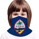 WH-CLA Bandera De Hermanos De Niños De Guam Bufanda Protección UV Bufanda Facial Unisex Pasamontañas Multifuncional Calentador De Cuello para Senderismo Cámping Yoga