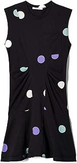 Derek Lam 10 Crosby Women's Polkadot Sleeveless Dress W/Ruffle Hem