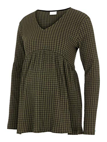MAMALICIOUS MLPERNILLE L/S Jersey Top Camiseta sin Mangas, Color Verde, XL para Mujer