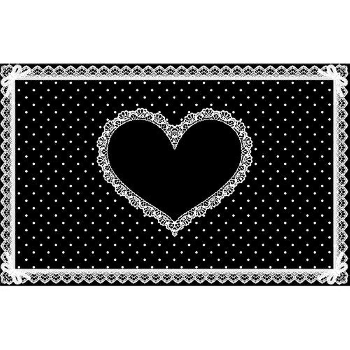 章湿度着飾るシリコンネイルマット ブラック×白 710×450mm