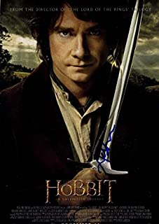 Andy Serkis Hobbit Unexpected Journey Autographed Signed Poster UACC RD AFTAL