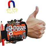 MyToolOn Magnetic Wristband with 20 Strong Magnets for Holding Screws, Nails, Drill Bits. Best Unique Tool Gift for Men, Father Dad, DIY Handyman, Husband, Boyfriend, Him, and Women, Orange.