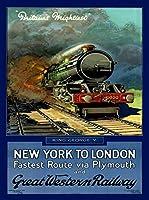 ERZAN1000ピース木製パズルニューヨークからロンドンへイギリスイギリス鉄道旅行広告減圧ジグソーおもちゃキッズギフト