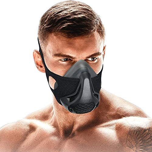 FaroDor Training Mask Oxygen Sport Fitness Mask 24 Breathing Resistance Levels and Imitate Workout at High Altitudes for Gym Cardio Fitness Running Endurance and HIIT Training