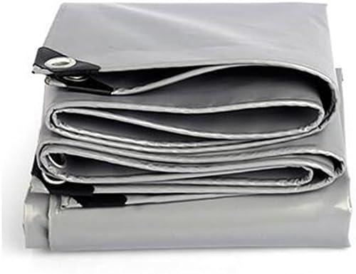 YANG HONG SHOP JL YH Auvent Bache Bache Tente Multifonction Housse Imperméable Ordinaire Résistant Aux Intempéries gris Renforcer Bache Multi-usages -0.45mm-550g   M2 A+ (Taille   5X 6m)