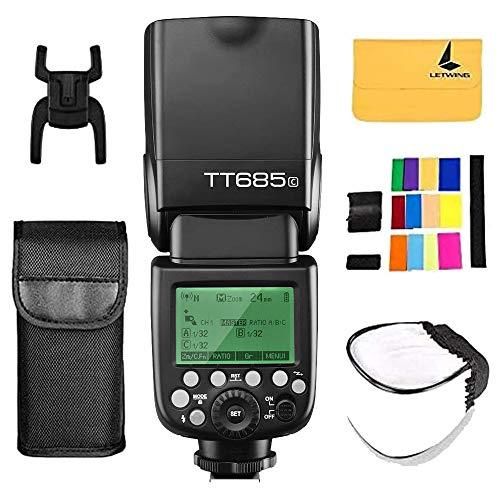 Godox TT685C TTL Flash per fotocamera Speedlite 2.4G HSS 1 / 8000s GN60 per Canon EOS 5D Mark III 5D Mark II 6D 7D 60D 50D 40D 30D 650D 600D 550D 500D 450D 400D 1100D 1000D