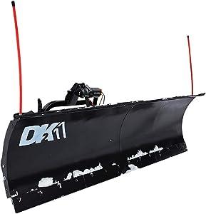 DK2 AVAL8422 Universal SUV/Truck Heavy Duty Snow Plow Kit, 84 x 19 x 2 Inch Receiver Mount, Black