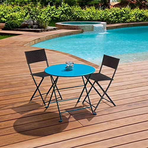 2PCS Folding Patio Chair Set Outdoor Pool Lawn Portable Wicker Chair,Suitable for Poolside, Balcony, Patio and Living Room,Patio Outdoor Chairs,Foldable to Store and Move,Brown