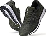 JOOMRA Men's Workout Shoes for Running Army Green Size 8 Fitness Walking Jogging Teens Male Cross Training Lightweight Footwear Man Gym Athletic Tennis Sneakers 41