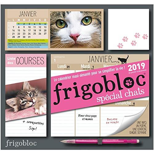 Koelkastblok 2019 voor katten – familieplanner (P.BAC Frigogam)