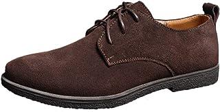 Zapatos de cordones de gamuza para hombre, tela Oxford, de Fangsto